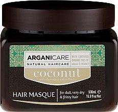 Parfémy, Parfumerie, kosmetika Maska pro obnovení struktury vlasů s kokosovým olejem - Arganicare Coconut Hair Masque For Dull, Very Dry & Frizzy Hair