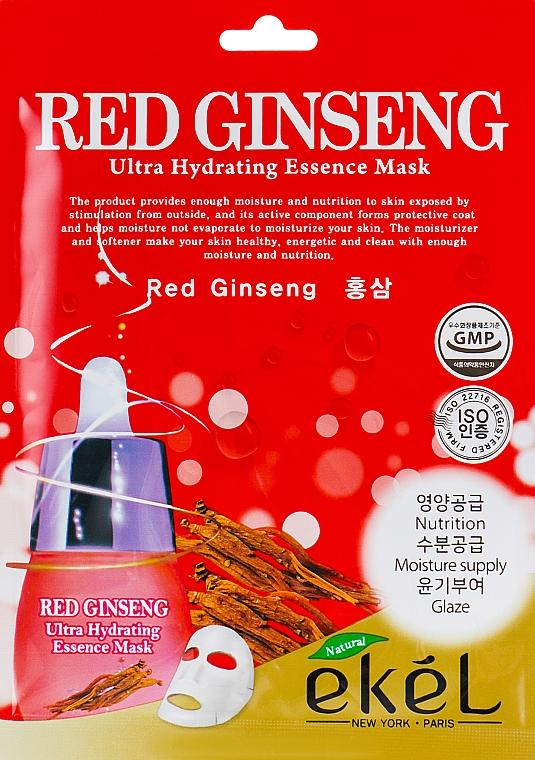 Pleťová látková maska s výtažkem z červeného ženšenu - Ekel Red Ging Seng Ultra Hydrating Essence Mask