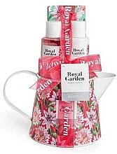 Parfémy, Parfumerie, kosmetika Sada - IDC Institute Royal Garden (sh/g/100ml+b/lot/100ml+salt/150g+soap/25g)