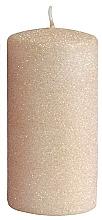Parfémy, Parfumerie, kosmetika Dekorativní svíčka, růžově zlatá, 7x14 cm - Artman Glamour
