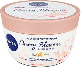 Parfémy, Parfumerie, kosmetika Tělové suflé s třešní a jojobovým olejem - Nivea Body Souffle Cherry Blossom & Jojoba Oil