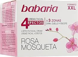 Parfémy, Parfumerie, kosmetika Omlazující krém na obličej a krk 4 efekty - Babaria Rosa Mosqueta 4 Effects Facial Cream