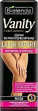 "Parfémy, Parfumerie, kosmetika Sada ""Pro přesnou depilaci nohou"" - Bielenda Vanity Laser Expert (cr/100ml + balm/2x5g + blade)"