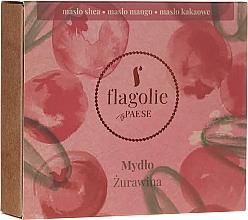 """Parfémy, Parfumerie, kosmetika Přírodní mýdlo na ruce a tělo """"Brusinky"""" - Flagolie by Paese Cranberry"""