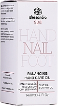 Parfémy, Parfumerie, kosmetika Olej pro péči o pokožku rukou - Alessandro International Balancing Hand Care Oil