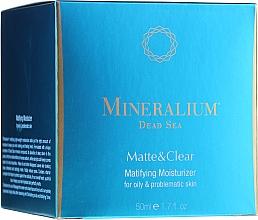 Parfémy, Parfumerie, kosmetika Matující hydratační krém pro mastnou problematickou pleť - Mineralium Dead Sea Matte & Clear