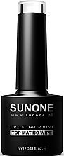 Parfémy, Parfumerie, kosmetika Matná bezvýpotková vrchní vrstva gel laku - Sunone UV/LED Gel Polish Top Mat No Wipe