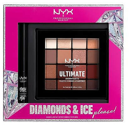 Sada - NYX Professional Makeup Diamonds & Ice Please Shadow & Liner Set (sh/palette/16x1.18g+liner/2ml)