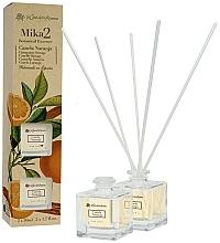 Parfémy, Parfumerie, kosmetika Sada Skořice a pomeranč - Flor De Mayo Mikado (2xdiffuser/50ml)