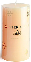 Parfémy, Parfumerie, kosmetika Aromatická svíčka, krémová, 7x19 cm - Artman Winter Glass