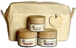 Parfémy, Parfumerie, kosmetika Sada pro normální až suchou pokožku - Shy Deer Natural Ritual Set (cr/mask/50ml + cr/50ml + eye/cr/30ml + bag)