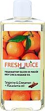 Parfémy, Parfumerie, kosmetika Pečující a masážní olej Tangerine&Cinnamon+Macadamia oil - Fresh Juice Energy Tangerine&Cinnamon+Macadamia Oil