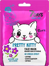 Parfémy, Parfumerie, kosmetika Pleťová maska Pretty Kitty - 7 Days Animal Pretty Kitty