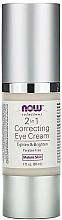 Parfémy, Parfumerie, kosmetika Krém na oční okolí - Now Foods Solutions 2 in 1 Correcting Eye Cream