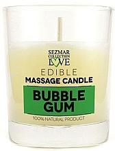 Parfémy, Parfumerie, kosmetika Přírodní masážní svíčka Žvýkačka - Sezmar Collection Bubble Gum