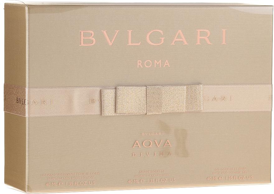 Bvlgari Aqva Divina - Sada (edt/40ml + b/lot/40ml + s/g/40ml) — foto N1