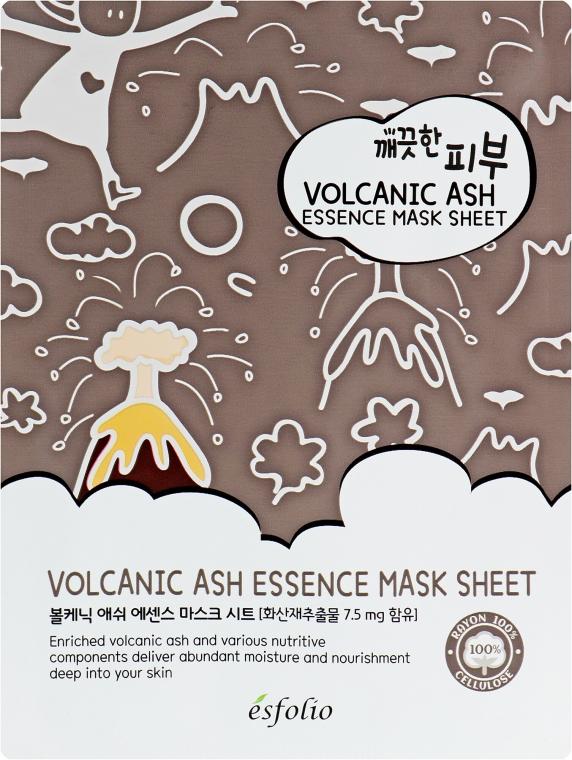 Látková maska s sopečným popelem - Esfolio Pure Skin Volcanic Ash Essence Mask Sheet