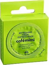 Parfémy, Parfumerie, kosmetika Osvěžující express-maska na obličej pro unavenou pleť s bambusovým extraktem - Cafe Mimi Refreshing Facial Express-Mask