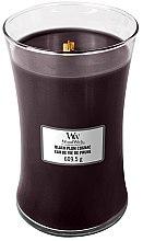 Parfémy, Parfumerie, kosmetika Vonná svíčka ve sklenici - WoodWick Hourglass Candle Black Plum Cognac