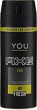 Parfémy, Parfumerie, kosmetika Deodorant-sprej - Axe You Fresh Deodorant Spray