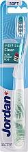 Parfémy, Parfumerie, kosmetika Zubní kartáček měkký s ochranným krytem, bílý, kapradina - Jordan Individual Clean Soft