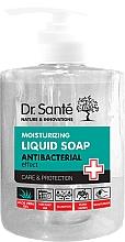 Parfémy, Parfumerie, kosmetika Tekuté zvlhčující antibakteriální mýdlo s aloe vera, s dávkovačem - Dr. Sante Antibacterial Moisturizing Liquid Soap