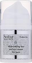 Parfémy, Parfumerie, kosmetika Zvlhčující krém na obličej a pleť kolem očí - Sostar Moisturizing Moisturizing Face & Eye Cream For Men