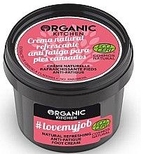 """Parfémy, Parfumerie, kosmetika Osvěžující krém na nohy """"Miluji svou práci"""" - Organic Shop Organic Kitchen Foot Cream"""