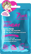 Parfémy, Parfumerie, kosmetika Pleťová maska pro plnou relaxaci Perfektní neděle - 7 Days Perfect Sunday