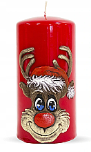 Parfémy, Parfumerie, kosmetika Dekorativní svíčka Rudolf, červená, 7x14 cm - Artman Christmas Candle Rudolf