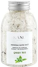 Parfémy, Parfumerie, kosmetika Minerální sůl do koupele Zelený čaj - Kanu Nature Mineral Green Tea Bath Salt