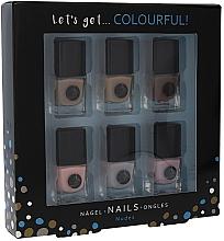 Parfémy, Parfumerie, kosmetika Sada - Cosmetic 2K Let'S Get Colourful! Nudes Nail Polish (nail/laquer/6x5ml)