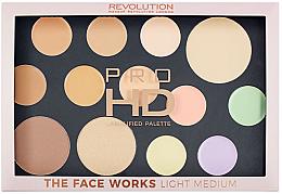 Parfémy, Parfumerie, kosmetika Paleta na obličej - Makeup Revolution Pro HD The Works Palette