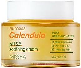 Parfémy, Parfumerie, kosmetika Zklidňující krém Měsíček pro citlivou pleť - Missha Su:Nhada Calendula pH 5.5 Soothing Cream