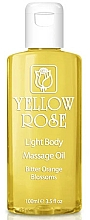 Parfémy, Parfumerie, kosmetika Tělový olej - Yellow Rose Light Body Massage Oil Bitter Orange Blossoms