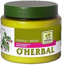 Parfémy, Parfumerie, kosmetika Vyhlazovací maska pro lesk vlasy s extraktem malin - O'Herbal