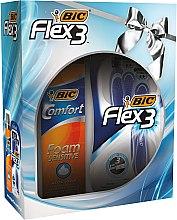 Parfémy, Parfumerie, kosmetika Sada - Bic Flex 3 Comfort (razor/4ks + foam/200ml)