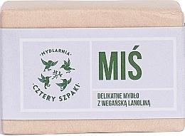 Parfémy, Parfumerie, kosmetika Jemné mýdlo na tělo a obličej - Cztery Szpaki Bear With Vegan Lanolin Soap