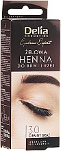 Parfémy, Parfumerie, kosmetika Gelová barva na obočí, tmavě hnědá - Delia Eyebrow Tint Gel ProColor 3.0 Dark Brown
