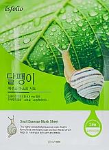 Látková maska s filtrátem hlemýždího sekretu - Esfolio Snail Essence Mask Sheet — foto N1
