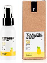 Parfémy, Parfumerie, kosmetika Opalovací krém na obličej SPF 50 - Freshly Cosmetics Healthy Protection Facial Sun Cream