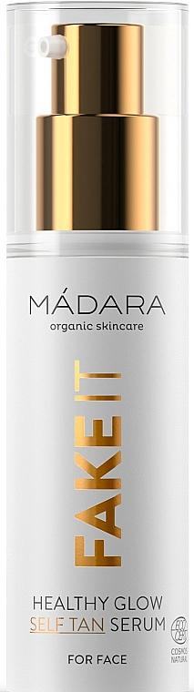 Samoopalovací pleťové sérum - Madara Cosmetics Fake It Healthy Glow Self Tan Serum