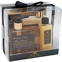 Parfémy, Parfumerie, kosmetika Sada - Beeing True (sh/gel 250ml +sh/balm 250ml + bath/f 100ml + peel/100ml)