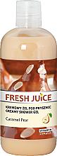 Parfémy, Parfumerie, kosmetika Krémový sprchový gel Karamelová hruška - Fresh Juice Caramel Pear Creamy Shower Gel