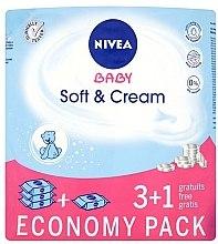 "Parfémy, Parfumerie, kosmetika Vlhčené ubrousky ""Dětské"" 4x63ks - Nivea Baby Soft & Cream"