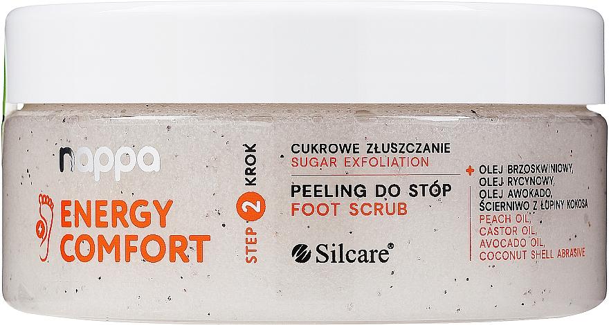 Cukrový peeling na nohy - Silcare Nappa Natural Sugar Foot Scrub