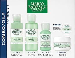 Parfémy, Parfumerie, kosmetika Sada - Mario Badescu Combo Oily Regimen Kit (gel/59ml+lot/59ml+cr/29ml+mask/14g+night/cr/3g)