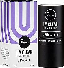 Parfémy, Parfumerie, kosmetika Změkčující krém - Suntique I'm Clear Cica Sunstick SPF50+/PA+++