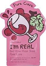 Parfémy, Parfumerie, kosmetika Plátýnková maska na obličej - Tony Moly I'm Real Red Wine Mask Sheet