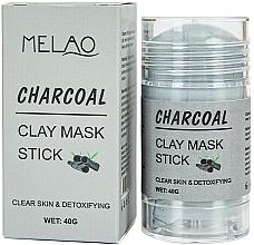 "Parfémy, Parfumerie, kosmetika Maska na obličej ""Charcoal"" - Melao Charcoal Clay Mask Stick"
